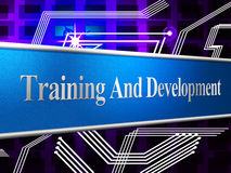Training And Development Represents Learning Buildout And Webinar Royalty Free Stock Photography