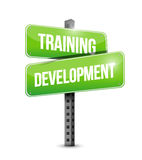 Training development road sign illustration design Stock Image