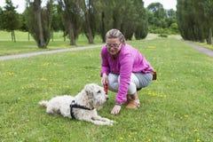 Training the Dog Royalty Free Stock Photo