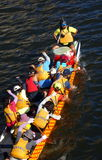 Training for the Dragon Boat Races Royalty Free Stock Image