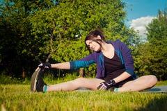 Training draußen Stockfoto