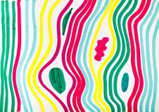 Abstract pattern by multicoloured felt-tip pen Stock Photo