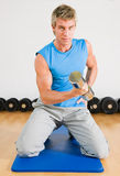 Training with dumbbells Royalty Free Stock Photos