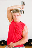Training with dumbbells Royalty Free Stock Images