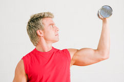 Training with dumbbells Stock Photos