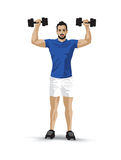 Training dumbbells man Royalty Free Stock Photography
