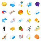 Training of economics icons set, isometric style Royalty Free Stock Images