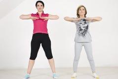Training exercises women stock photos