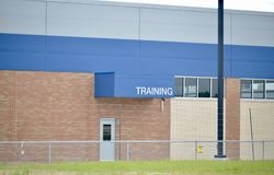 Training Facility. A training facility for providing educational instruction for working professionals, business people, athletes and those in industry stock image