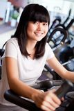 Training in fitness club Royalty Free Stock Photo