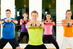 Training with flexi bar Stock Image