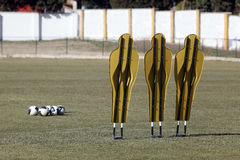 Training free kick mannequin Royalty Free Stock Image