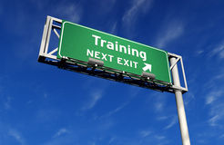 Training - Freeway Exit Sign Royalty Free Stock Photography