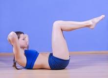 Training girl Stock Images