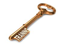 Training - Golden Key. Stock Photo