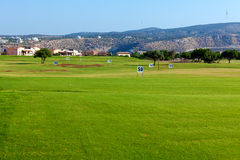 Training golf field for range shots Royalty Free Stock Image