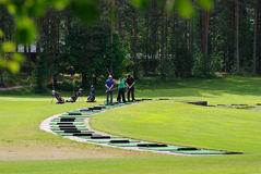 Training in Golf. Stock Image