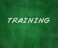 Training Green Chalk Board. Background Stock Image