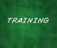 Training Green Chalk Board Stock Image