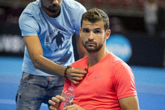 Training on Grigor Dimitrov Royalty Free Stock Images