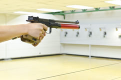 Training gun aim to target Stock Photos
