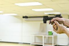 Training gun aim to target Royalty Free Stock Photos