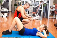 Training in the gym Stock Image