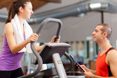 Training in the gym Stock Photography