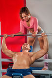 Training in the gym Royalty Free Stock Images