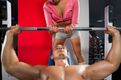 Training in the gym Stock Images