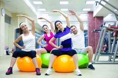 Training in gym Royalty Free Stock Image