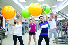 Training in gym Royalty Free Stock Photos