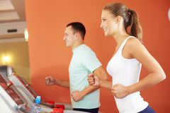 Training in gym Stock Image