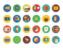 Training Icon Set. Webinar and business symbols Stock Photography