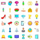 Training icons set, cartoon style. Training icons set. Cartoon style of 36 training vector icons for web isolated on white background Royalty Free Stock Image