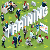 Training Isometric People Icon 3D Set Vector Illustration Stock Image