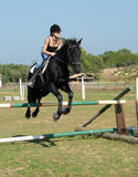 Training of jumping Stock Photo
