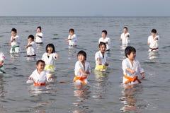 Training of karate Stock Image