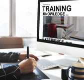 Training Knowledge Skills Experience Cup Words Concept Royalty Free Stock Photos