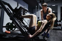 Training legs on facilities Royalty Free Stock Images