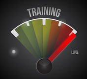 Training level measure meter from low to high Royalty Free Stock Image
