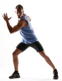 Training man. Royalty Free Stock Image