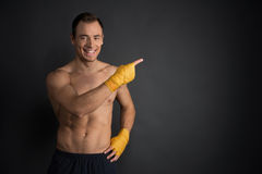 Training martial arts, looking away Stock Photos