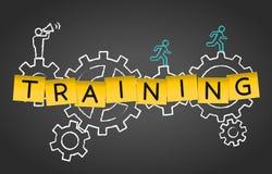 Training Mentoring Coaching Advice Gear Concept Background. Training Mentoring Coaching Advice Gear Concept Blackboard Background vector illustration