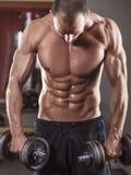 Training met gewichten Stock Foto's