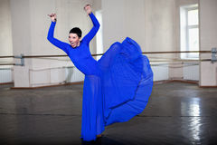 Training  modern ballerina Stock Photo