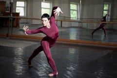 Training  modern ballerina Stock Photography