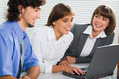 Training new colleague stock image