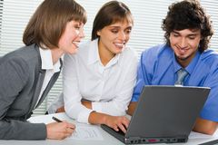 Training new colleague Stock Images