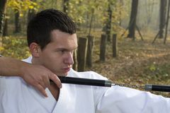 Training Nunchaku Royalty Free Stock Photography